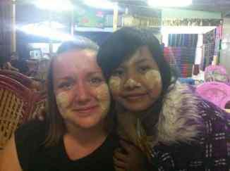 Trying Thanaka - the local beauty treatment